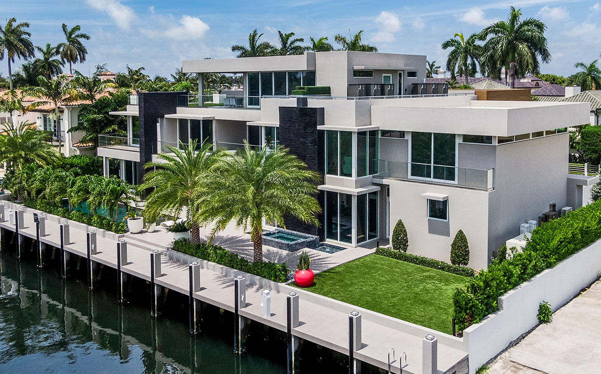 waterfront home in Fort Lauderdale.