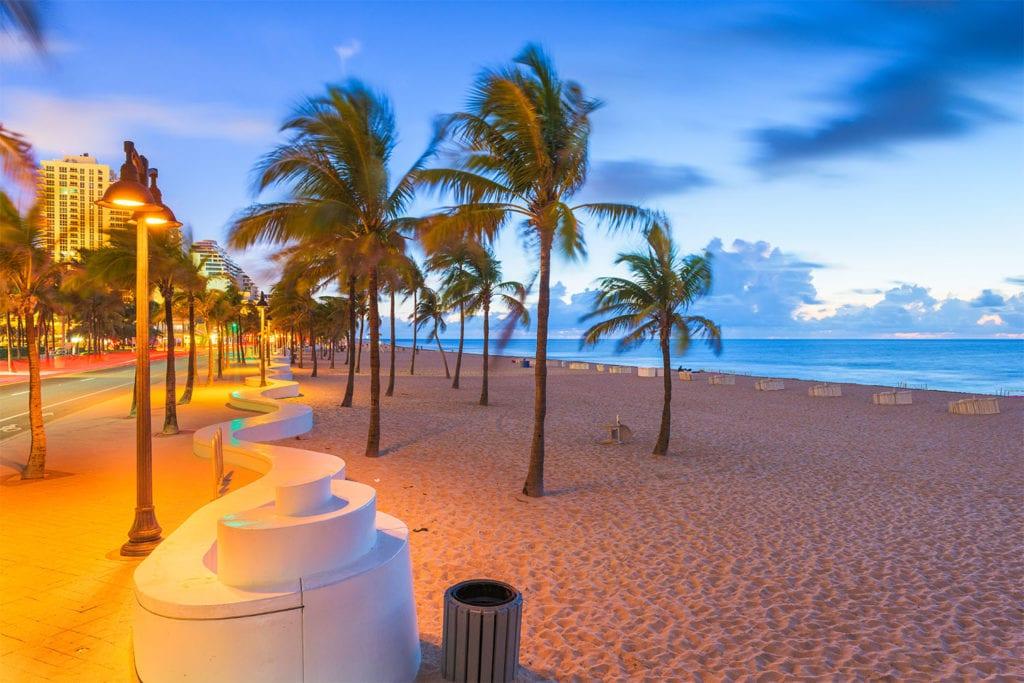 Fort Lauderdale Beach Night Shot