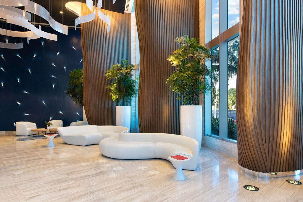 Fort Lauderdale condo lobby